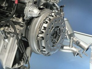 Clutch positioning on the engine