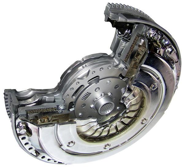Clutch with dual mass flywheel