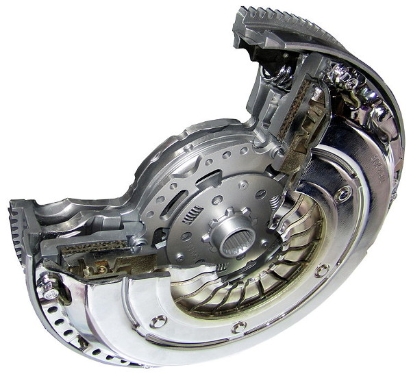 Clutch with dual mass flywheel