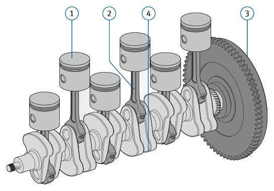 crankshaft x engineer C6 Transmission engine crank mechanism