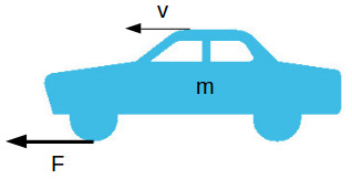 Moving vehicle with mass and traction force