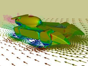 CFD (Computational Fluid Dynamics) simulation model