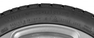 Continental Winter Contact tire marking