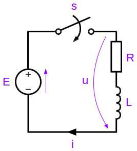 RL circuit schematic