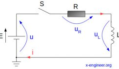 Series RL circuit schematic