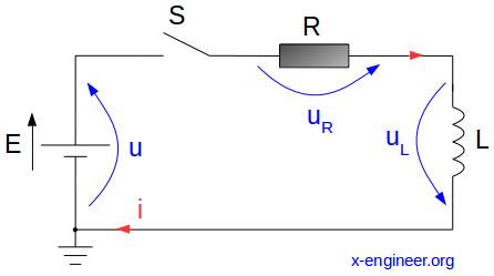 Series RL circuit schematic