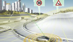 Continental with eHorizon road data information