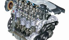 Diesel engine cutaway