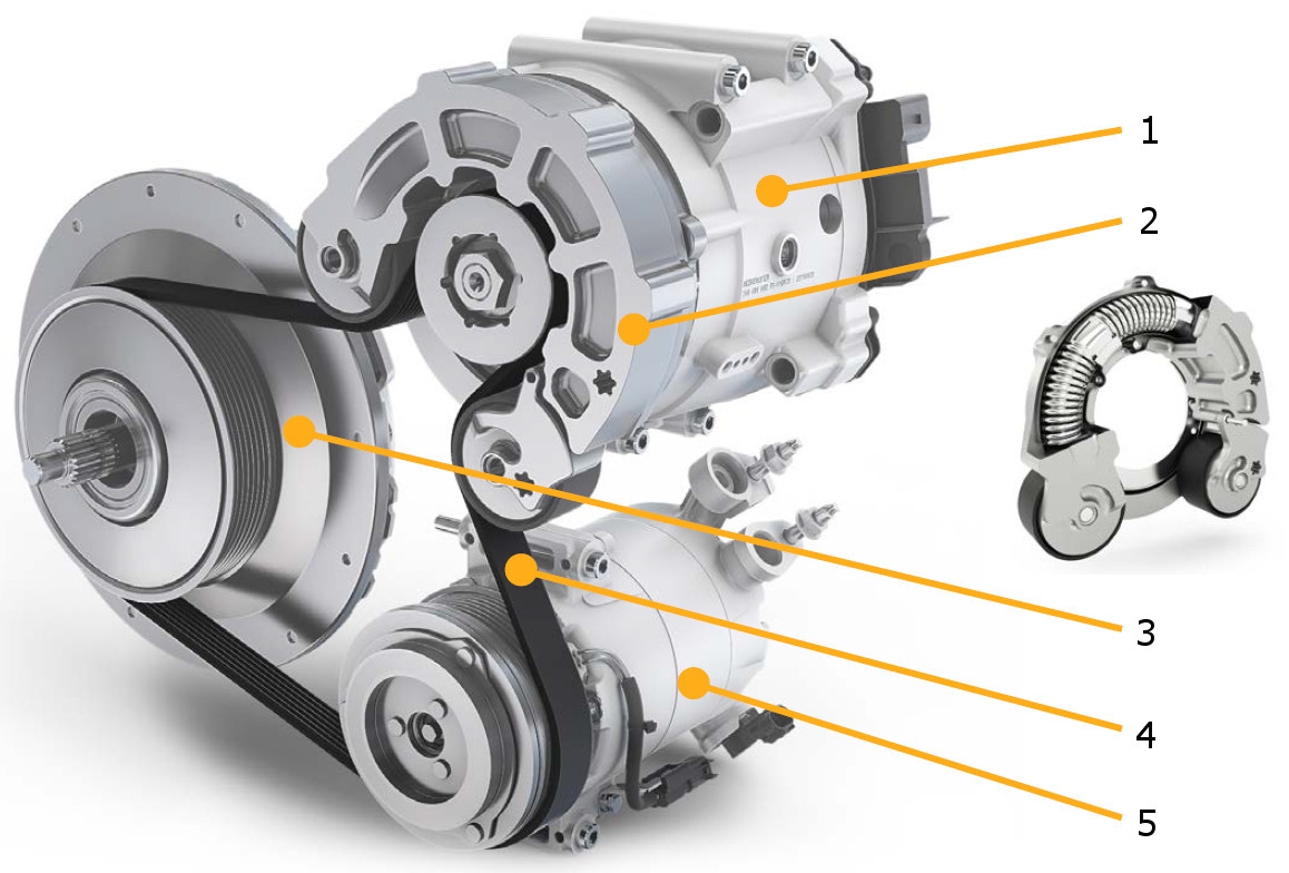 Mild Hybrid Electric Vehicle (MHEV) – components (Continental) – x ...