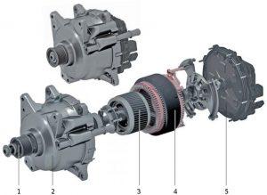 Continental 48V belt starter generator - exploded view