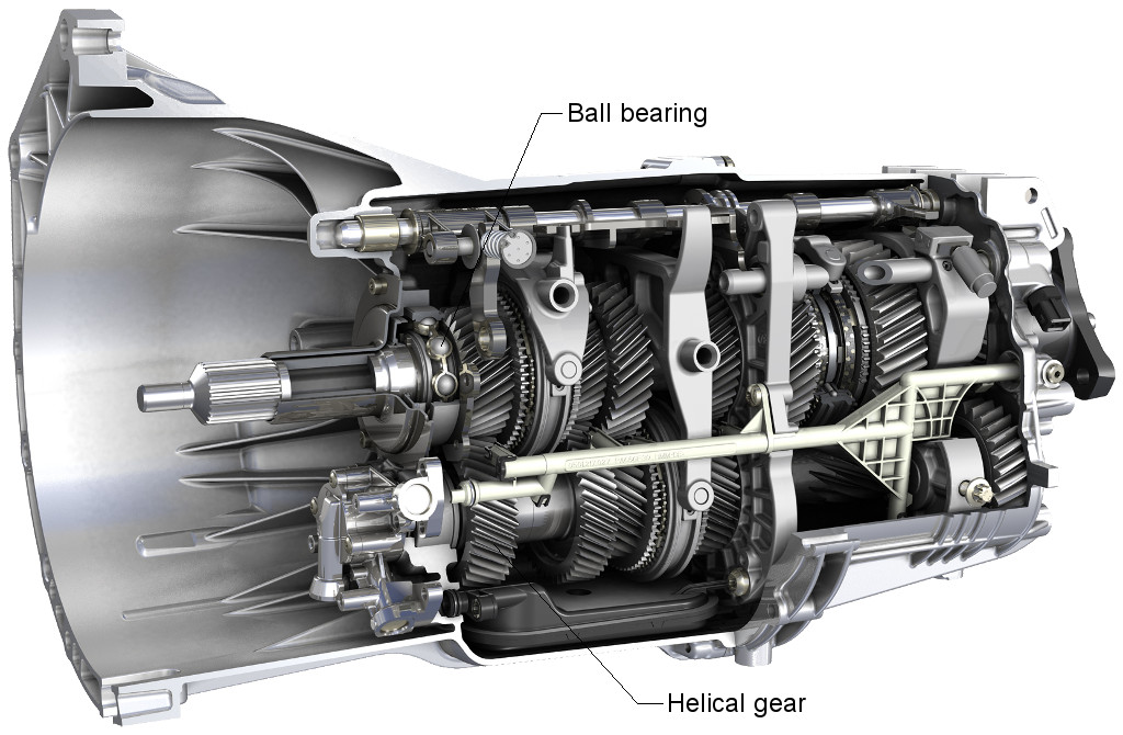 Six-speed manual gearbox components