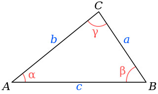 Law of cosines for a scalene triangle