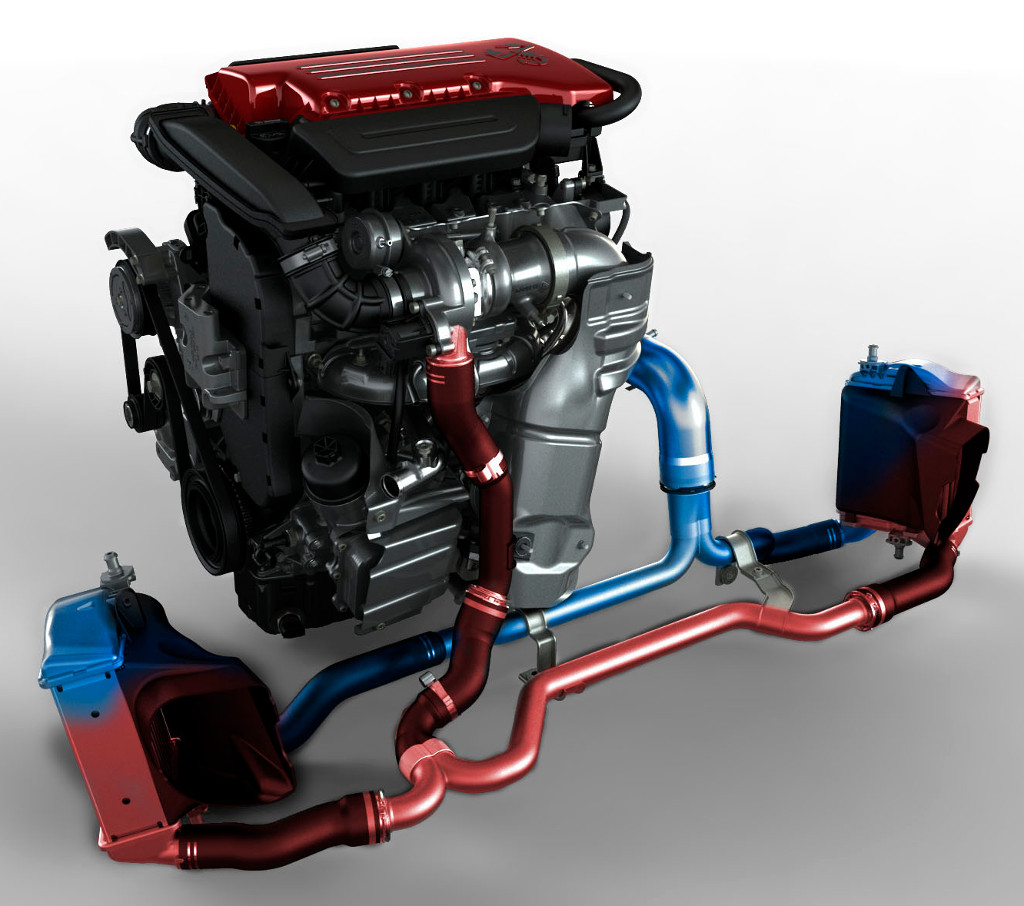 Fiat 500 Abarth MultiAir turbocharged engine