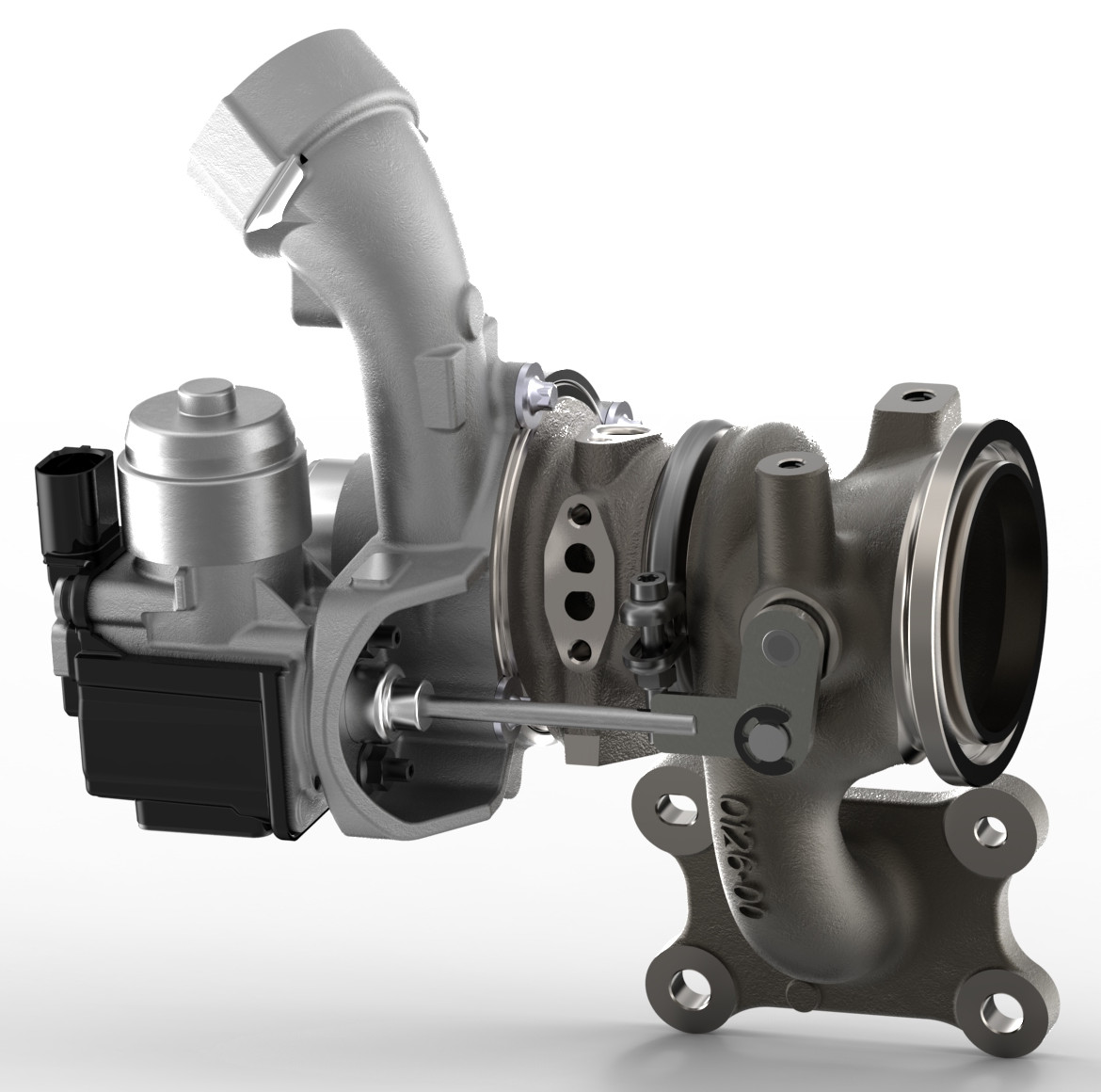 Turbocharger with electric actuated wastegate
