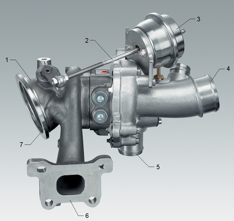 Turbocharger with wastegate