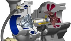 Twin-scrol turbocharger (Voith)