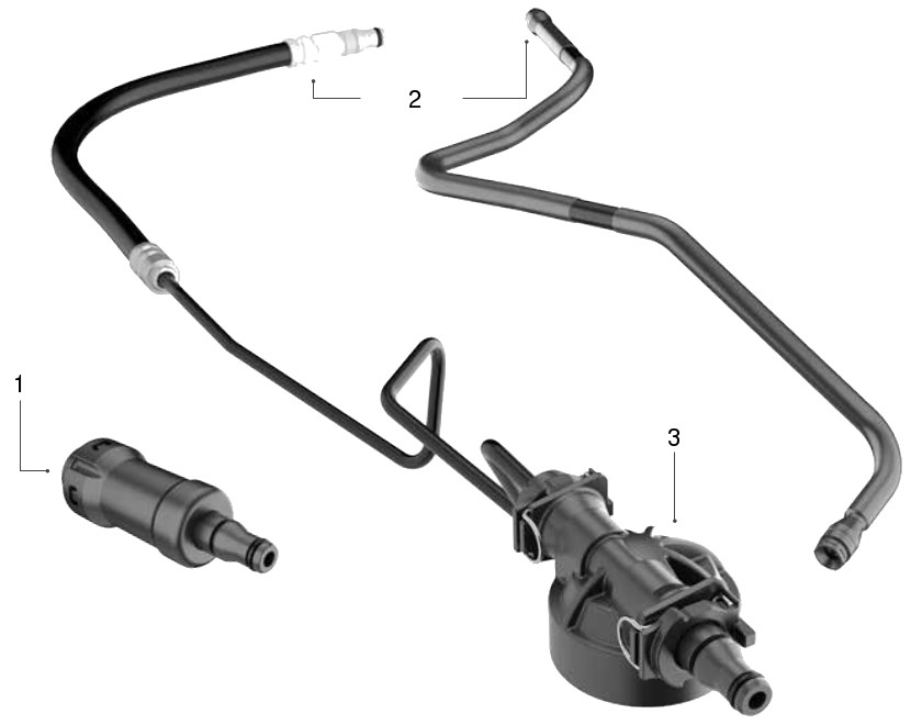 Clutch pipe-hose assembly