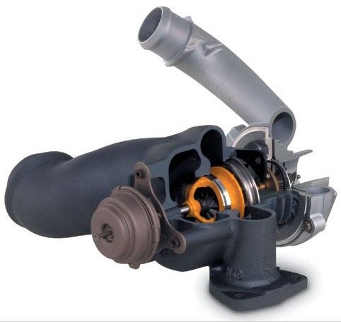 GT17 variable geometry turbocharger - with slidevane and pneumatic actuation (1)