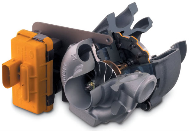 GT17VNT variable geometry turbocharger - with nozzle and electric actuation (1)