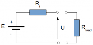 Battery equivalent electrical circuit