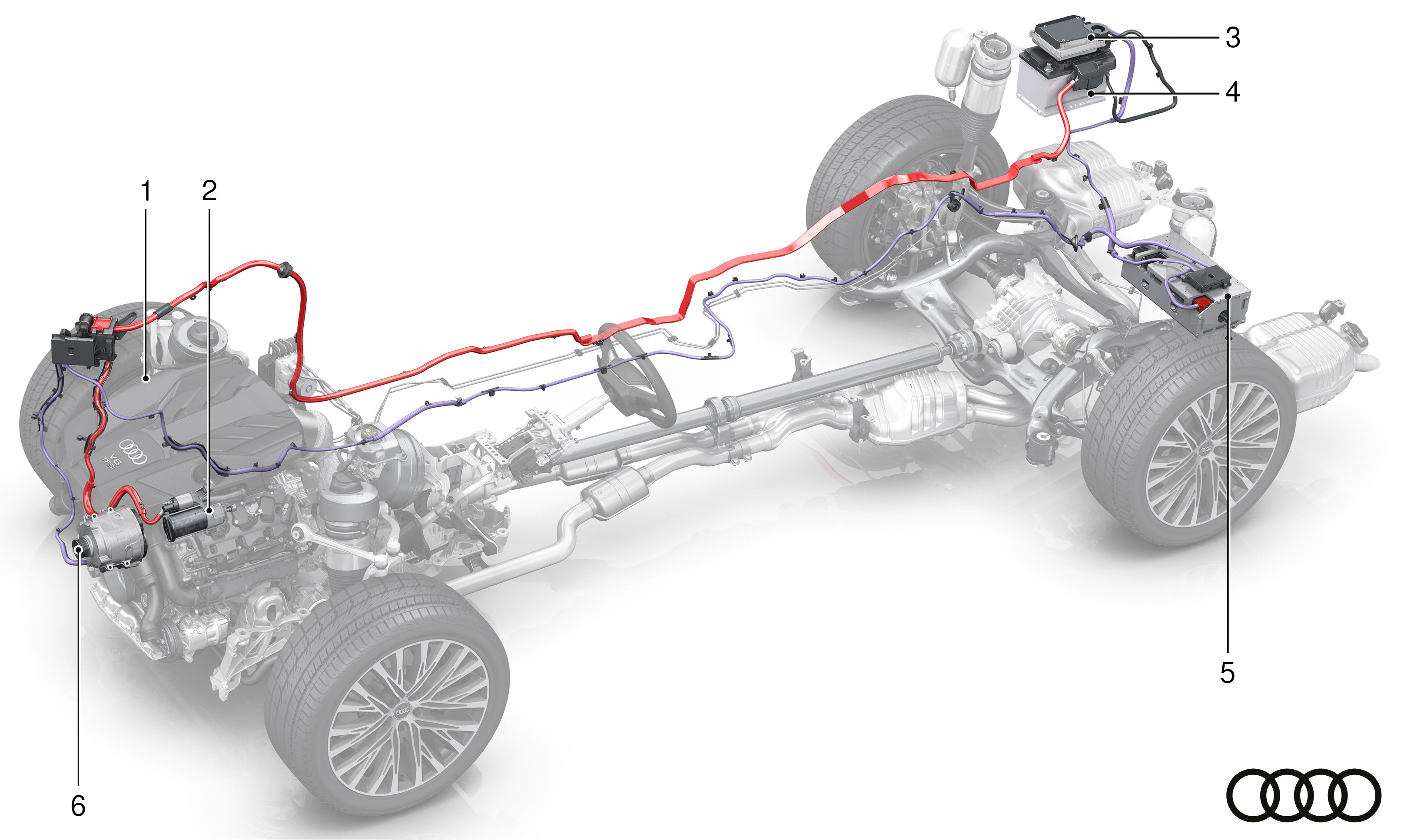 Audi A8 MHEV - components (1)