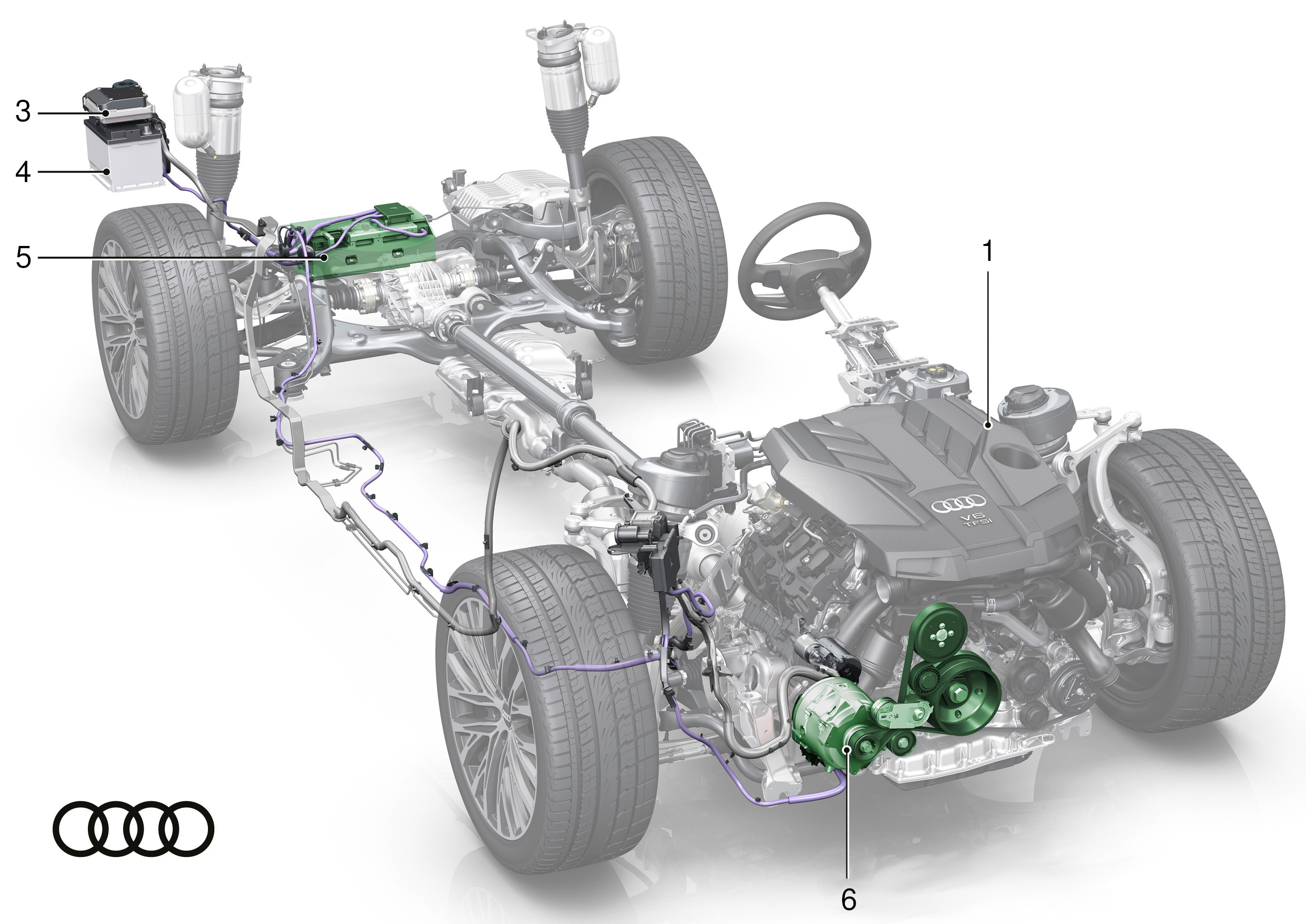 Audi A8 MHEV - components (2)