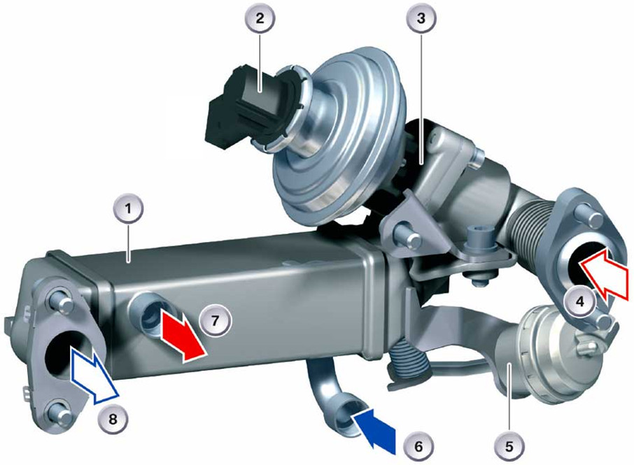 Integrated Exhaust Gas Recirculation (EGR) system