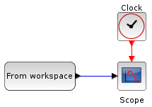 Read data from Scilab workspace in Xcos - option 1