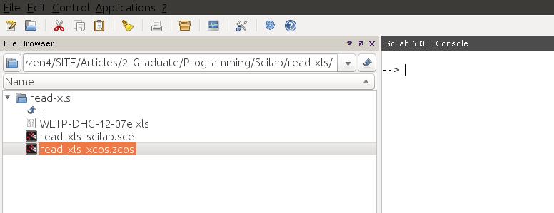 Scilab work folder