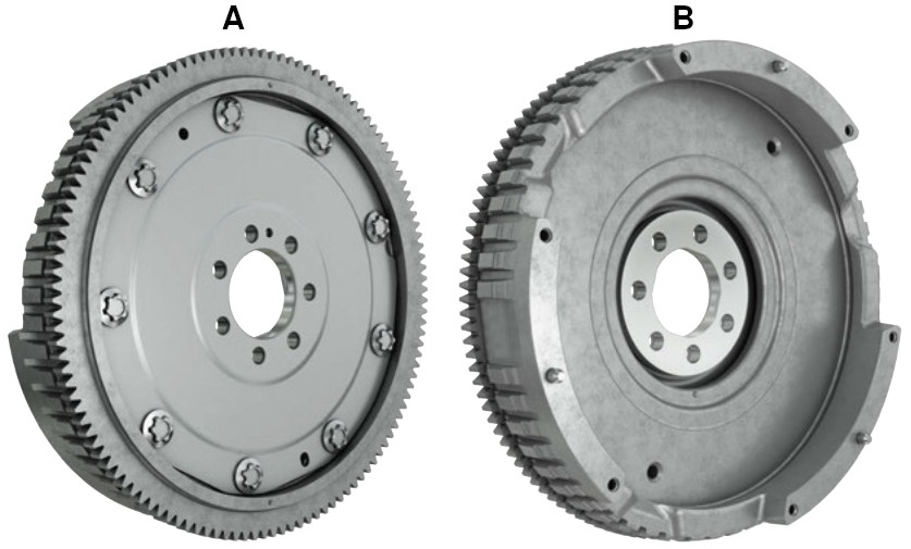 Flexible flywheel