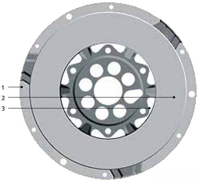 Standard DMF - secondary mass - gearbox side