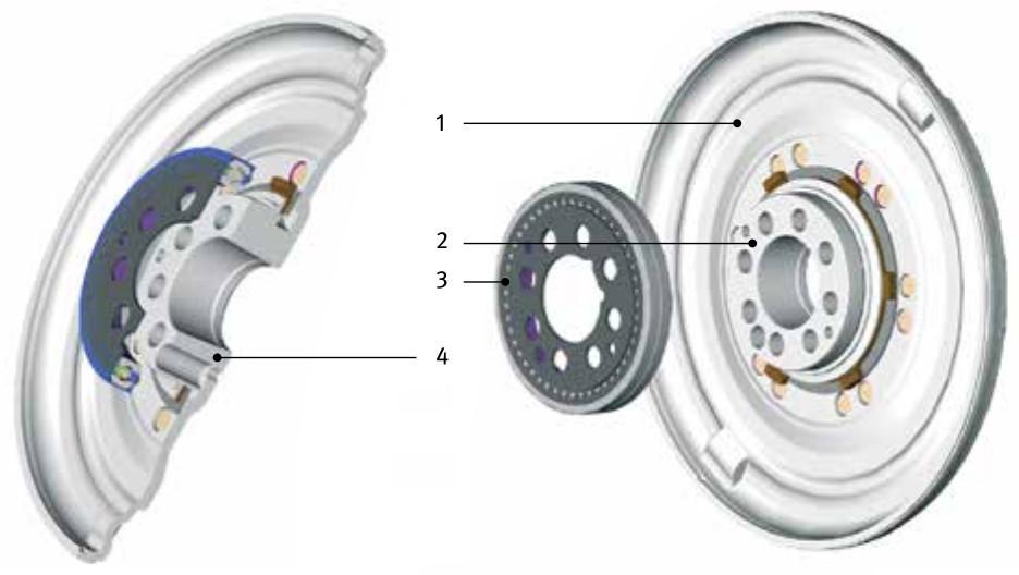 Standard dual mass flywheel (DMF) - bearing size