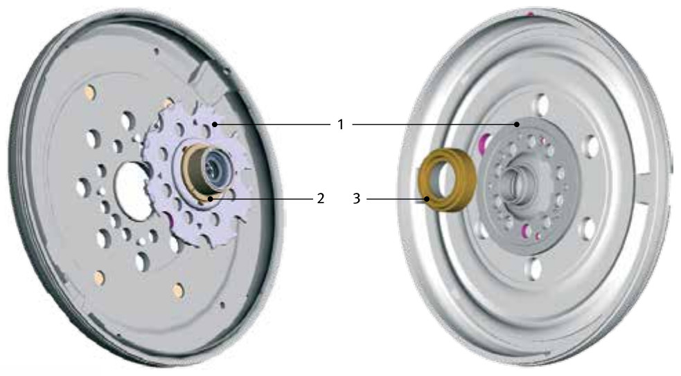 Standard dual mass flywheel (DMF) - bearing