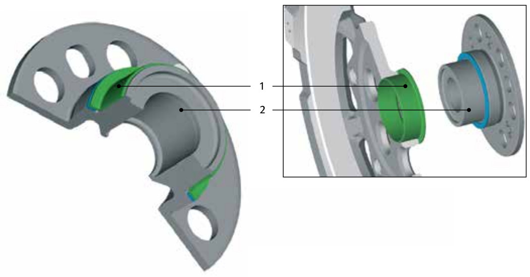 Standard dual mass flywheel (DMF) - plain bearing