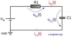 RC circuit schematic