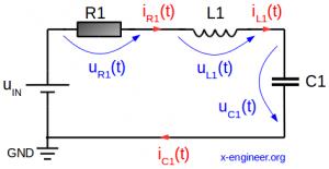 RLC circuit schematic