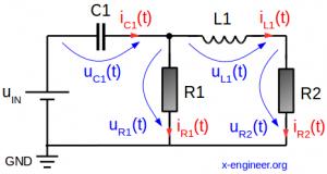 RRLC circuit schematic