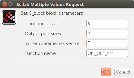 Custom C code block parameters - Xcos