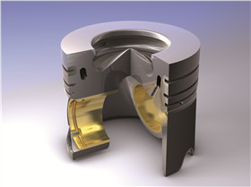 Aluminium diesel pistons