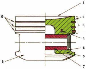 Main piston parts