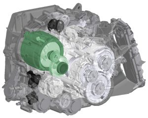 Getrag hybrid dual-clutch transmission 7HDT300 electric machine integration