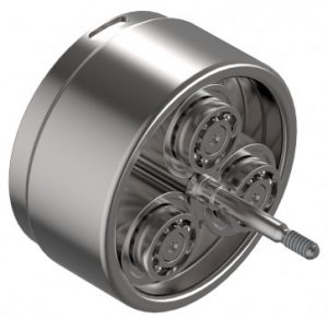 Rotary drive system with planetary rollers