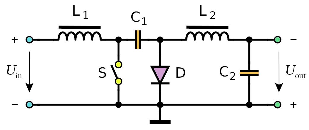 Cuk DC-DC converter schematic