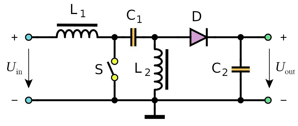SEPIC DC-DC converter schematic
