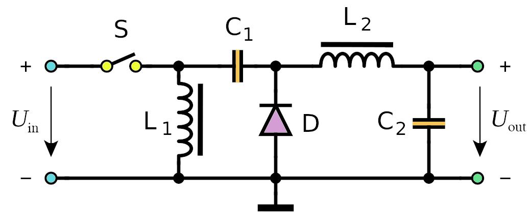 Zeta DC-DC converter schematic
