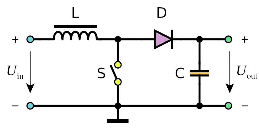 Boost DC-DC converter schematic