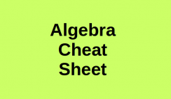 Algebra Cheat Sheet Logo