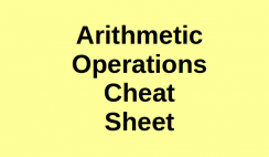 Arithmetic Operations Cheat Sheet