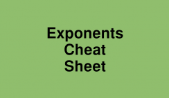 Exponents Cheat Sheet Logo