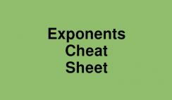 Exponents Cheat Sheet Logo